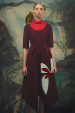 Patchwork Crepe Dress
