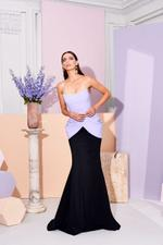 Bustier Two-Toned Gown