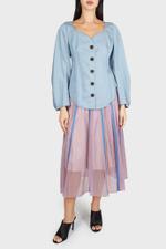 Annemarie Tuck Sleeve Blouse