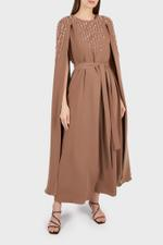 Sofi Panelled Dress with Cape Sleeves