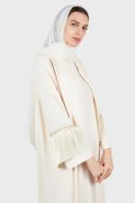 Round Neck Abaya with Crystal Sleeve+Sheila
