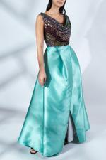 Dalia Draped Sequin Maxi Dress