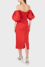 Scuba Off-Shoulder Cocktail Dress
