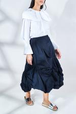 Memory Grosgrain Crumple Skirt