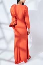 Bedollo Dress with Silk Gazar Ruffles