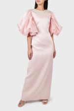 Queen Puff Satin Dress