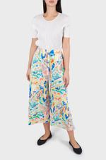 Abstract Drawstring Pleated Pants