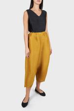 Pleated Tailored Crop Pants