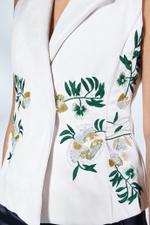 Embellished Suede Vest