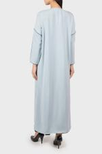 Casual Abaya Coat with Contrast Piping