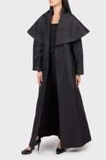 Black Collared Abaya Coat