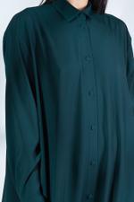 Long Sleeve Satin Shirt Kaftan