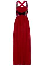 Velvet and Chiffon Gown