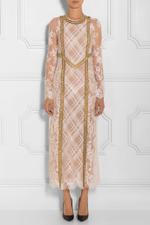 Long Sleeve Macrame Chain Dress
