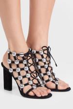 Rubie Studded Suede Heels