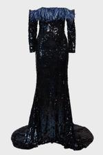 Off-Shoulder Evening Gown