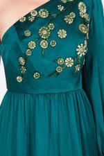 One Shoulder Embellished Gown