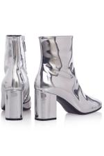 Metallic Leather Boots