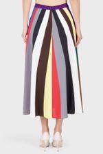 Rainbow Striped Midi Skirt