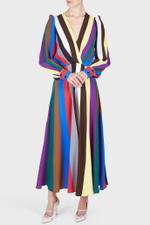 Rainbow Striped Midi Dress
