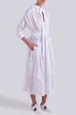 Neck Tie Midi Dress