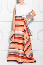 California Stripe Overlay Skirt