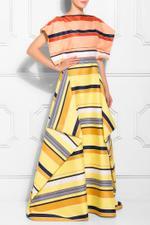California Stripe Overlay Gown