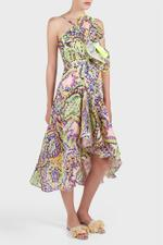Printed Draped Dress