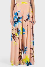 Hibiscus Print Wide Leg Trousers
