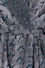 Silk Herringbone Kimono Tunic