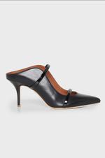 Maureen Mid-Heel Nappa Leather Pumps