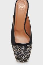 Carmen Nappa Crystal Block Heels