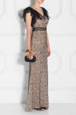 Ruffled Lace Gown