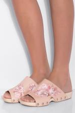 Floral Open Toe Clogs