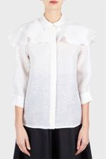 Ruffle Cape Shirt