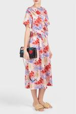 Thelma Pritned Draped Dress