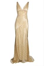 Sequence V Neck Gown