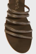 Sarah Crystal Embellished Bronze Sandals