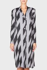 Diagonal Lines Long Coat