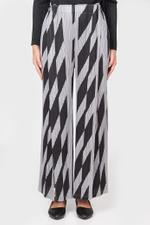 Diagonal Lines Wide Pants