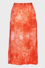 Bias Ripple Satin Tie Dye Skirt