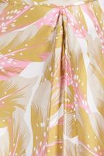 Cati Light Ochre Seaflower Midi Skirt