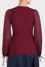 Saida Bordeaux Knit Top