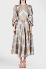 Fife Stripy Satin Dress