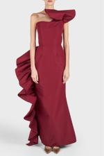 Side Ruffle Gown
