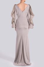 Long Sleeve Ruffle Gown