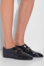 Patent Faux-leather Loafers