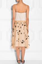 Sleeveless Tulle Overlay Dress