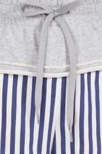 Terry Striped Wide Leg Pants