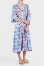 Trelliage Sleeves Shirt Dress